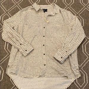 NWT madewell striped flannel shirt size medium